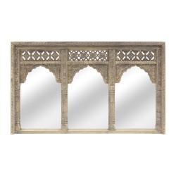Espejo madera portada arcos gris