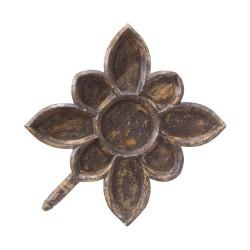 Bandeja forma flor negra