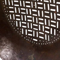 Colador decorativo de metal