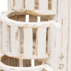 Macetero madera plegable blanco