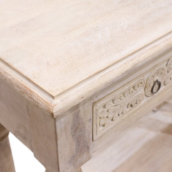 Consola de madera vintage acabado blanco