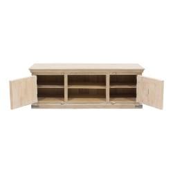 Mueble de televisión de madera patinado