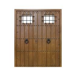 Puerta de madera exterior dos hojas