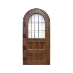 Puerta madera modelo Castillo con cristalera