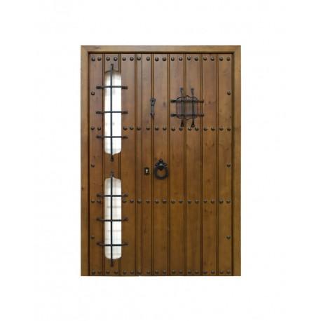 Puerta madera modelo Gema con fijo