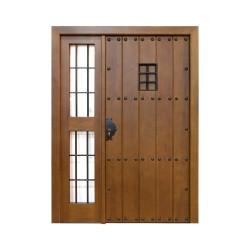 Puerta madera modelo León con fijo