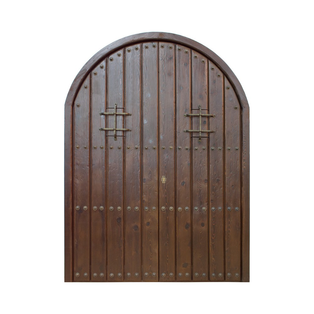 Puerta madera modelo Medieval de 2 hojas