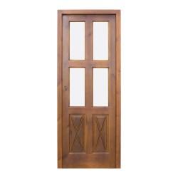 Puerta madera de paso acristalada modelo Tenerife