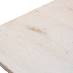 Mesa centro elevable blanca