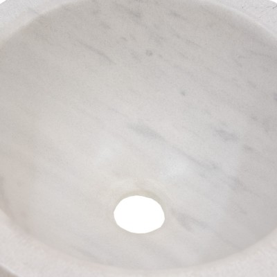 Lavabo redondo de mármol