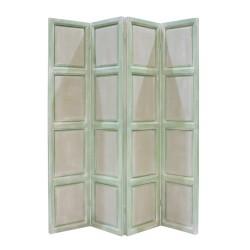 Biombo puerta verde y gris