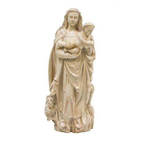 Virgen de madera con niño