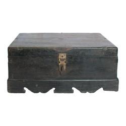 Caja de madera decorativa acabado negro