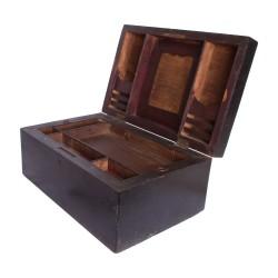 Caja de madera decorativa negra