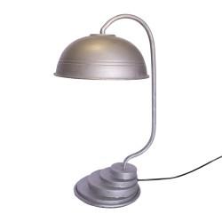 Lámpara de sobremesa vintage plateada