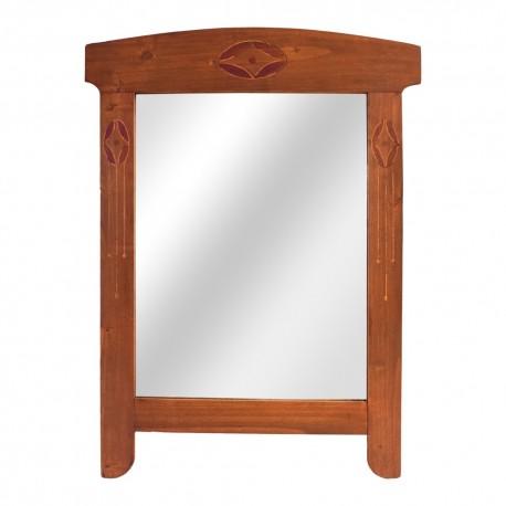 Espejo de madera rectangular
