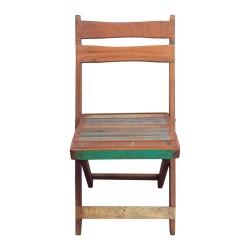 Silla de madera plegable tonos pastel