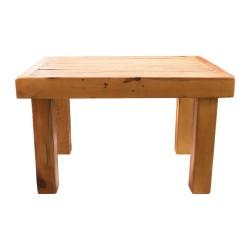 Mesa de centro de madera estilo rústico