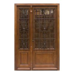 Puerta de madera exterior modelo Araceli más fijo