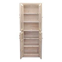 Alacena de madera estilo vintage acabado blanco
