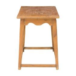 Mesa auxiliar de madera de estilo rústico-vintage