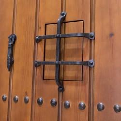 Puerta de madera de exterior modelo Alhambra
