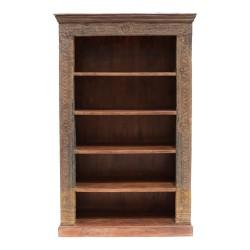 Librería de madera de aires orientales