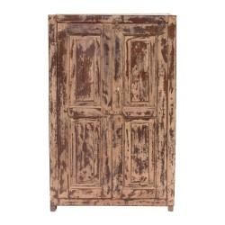 Armario alacena de madera de teca recuperada