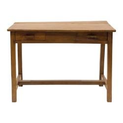 Mesa de escritorio de madera antigua