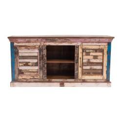 Mueble de televisión de madera reciclada estilo vintage Mallorca