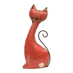 Gato de chapa acabado rojo