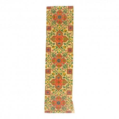 Panel de madera policromado