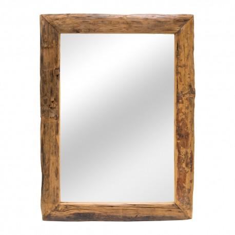 Espejo rústico marco en madera
