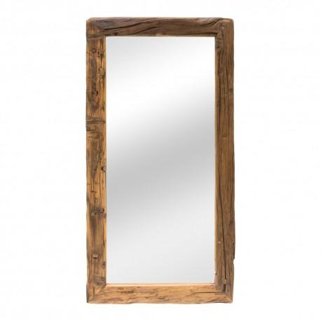 Espejo de madera de estilo rústico