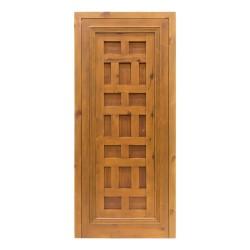 Puerta de madera antigua estilo castellano