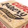 Cajonera de madera con etiquetas