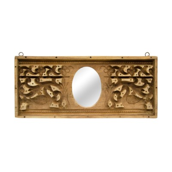 Espejo apaisado con marco rectangular de madera