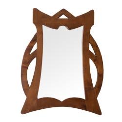 Espejo de cedro pequeño calado