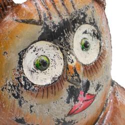 Búho de chapa marrón y gris