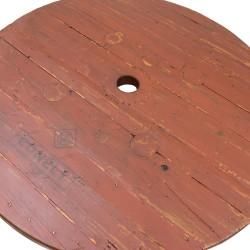 Mesa de comedor tablero madera patas forja