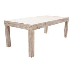 Mesa de comedor de madera acabado lavado