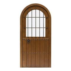 Puerta madera exterior modelo Castillo cristalera