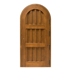 Puerta madera exterior modelo Castillo medio punto