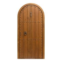 Puerta de madera exterior modelo Castillo medio punto