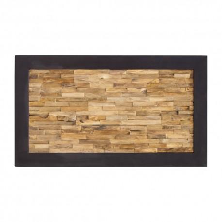 Cabecero de madera de teca recuperada