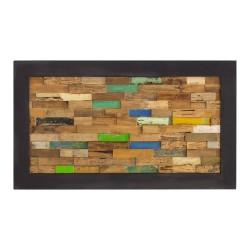 Cabecero de madera de teca recuperada acabado colores