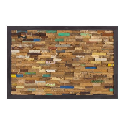 Cabecero de madera de teca acabado colores