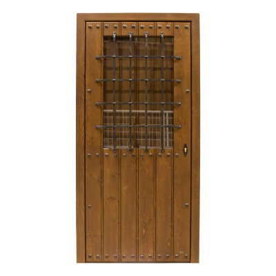 Puerta madera exterior modelo Alhambra Cristalera con tapaluz