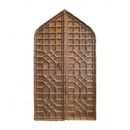 Puerta antigua 2 hojas ojival