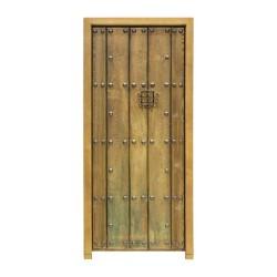 Puerta antigua de 1 hoja de duelas con clavos